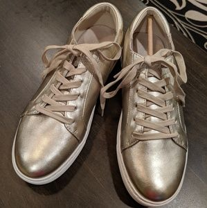 Gold Kenneth Cole leather tennis shoes New 8.5
